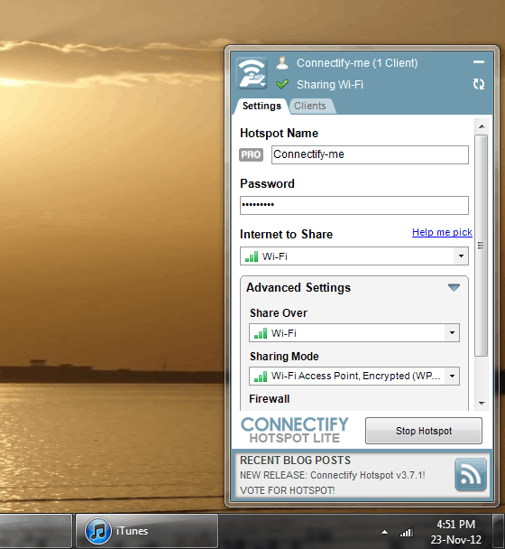 connectify setup
