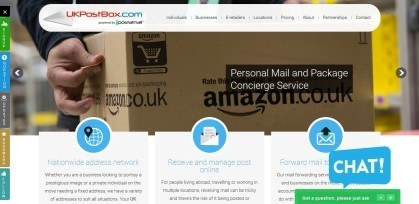 UK Postbox package forwarding
