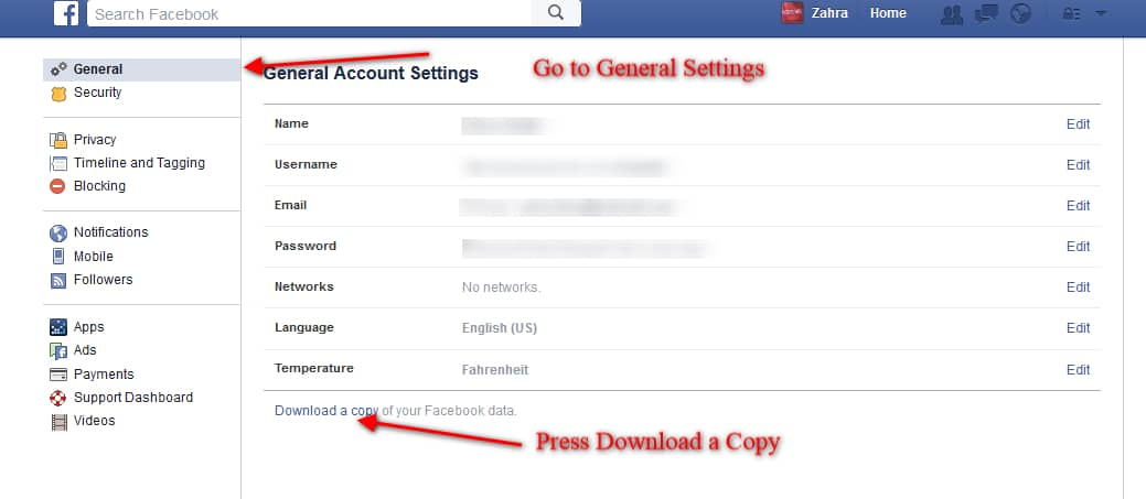 Make A Backup Of Your Facebook Conversation