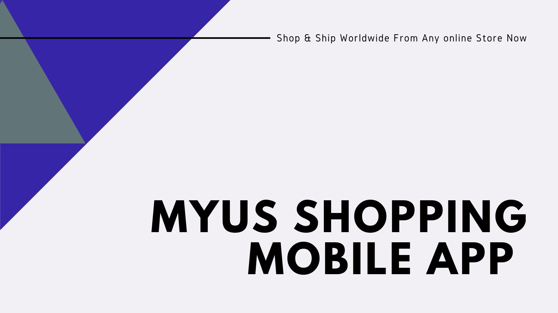 MyUS shopping mobile app